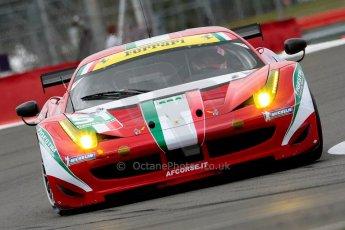 © Chris Enion/Octane Photographic Ltd. FIA WEC Free practice 3 – Silverstone. Saturday 25th August 2012. Ferrari 458 Italia - AF Corse. Giancarlo Fisichella and Gianmaria Bruni. Digital ref : 0470ce1d0099