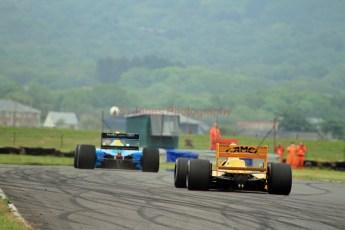 © Jones Photography 2012. 2nd June 2012 - John Reaks, 1990 Benetton B190, Steve Griffiths, 1989 Lotus 101, Pembrey, Welsh Motorsport Festival. Digital Ref : 0366CJ1612