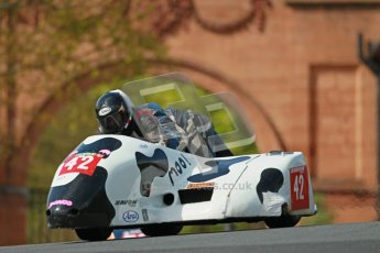 © Octane Photographic Ltd. Wirral 100, 28th April 2012. ACU/FSRA British F2 Sidecars Championship. Race. Miles Bennett/Shelley Smithies - Shelbourne Honda. Digital ref : 0310cb1d5433