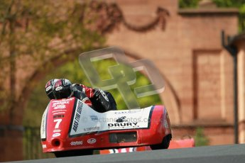 © Octane Photographic Ltd. Wirral 100, 28th April 2012. ACU/FSRA British F2 Sidecars Championship. Gary Bryan/Gary Partridge - Baker Honda. Race. Digital ref : 0310cb1d5438