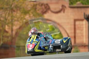 © Octane Photographic Ltd. Wirral 100, 28th April 2012. ACU/FSRA British F2 Sidecars Championship. Tony Baker/Fiona Milligan-Baker - Baker Suzuki. Race. Digital ref : 0310cb1d5452