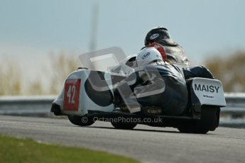 © Octane Photographic Ltd. Wirral 100, 28th April 2012. ACU/FSRA British F2 Sidecars Championship. Race. Miles Bennett/Shelley Smithies - Shelbourne Honda. Digital ref : 0310cb1d5468