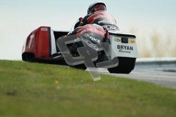 © Octane Photographic Ltd. Wirral 100, 28th April 2012. ACU/FSRA British F2 Sidecars Championship. Gary Bryan/Gary Partridge - Baker Honda. Race. Digital ref : 0310cb1d5471