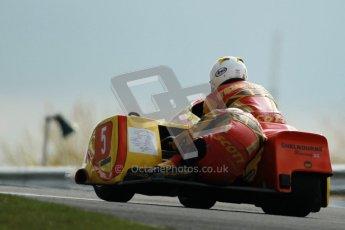© Octane Photographic Ltd. Wirral 100, 28th April 2012. ACU/FSRA British F2 Sidecars Championship. Carl Fenwick/Mark Sayers - Shelbourne Honda. Race. Digital ref : 0310cb1d5490