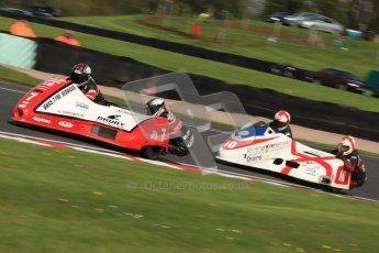 © Octane Photographic Ltd. Wirral 100, 28th April 2012. ACU/FSRA British F2 Sidecars Championship. Gary Bryan/Gary Partridge - Baker Honda and Conrad Harrison/Lee Patterson - Shelbourne Honda. Free Practice. Digital ref : 0310cb7d8782