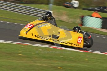 © Octane Photographic Ltd. Wirral 100, 28th April 2012. ACU/FSRA British F2 Sidecars Championship. John Saunders/Shaun Parker - Shelbourne Honda. Free Practice.  Digital ref : 0310cb7d8787