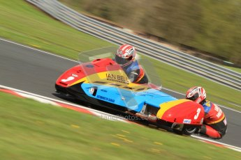 © Octane Photographic Ltd. Wirral 100, 28th April 2012. ACU/FSRA British F2 Sidecars Championship. Ian Bell/Carl Bell - LCR Yamaha. Free Practice. Digital ref : 0310cb7d8859