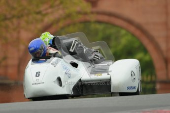 © Octane Photographic Ltd. Wirral 100, 28th April 2012. Sidecars. Qualifying race. Dave Holden/Heath Fairbrother. Digital ref : 0308cb1d5171