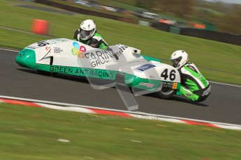 © Octane Photographic Ltd. Wirral 100, 28th April 2012. Sidecars. Anthony Eades/Ian Greensmith. Free Practice. Digital ref : 0308cb7d8800