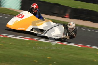 © Octane Photographic Ltd. Wirral 100, 28th April 2012. Sidecars. Free Practice. Jim Stocks/Dave Caulfield. Digital ref : 0308cb7d8848