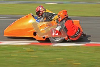 © Octane Photographic Ltd. Wirral 100, 28th April 2012. Sidecars. Free Practice. Tony Cunliffe/Marton Cunliffe. Digital ref : 0308cb7d8877