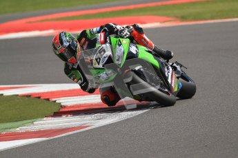 © Octane Photographic Ltd. World Superbike Championship – Silverstone, 2nd Free Practice. Saturday 4th August 2012. Tom Sykes - Kawasaki ZX-10R - Kawasaki racing Team. Digital Ref : 0446cb7d1810