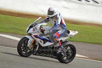 © Octane Photographic Ltd. World Superbike Championship – Silverstone, 2nd Free Practice. Saturday 4th August 2012. Leon Haslam - BMW S1000 RR - BMW Motorrad Motorsport. Digital Ref : 0446cb7d1934