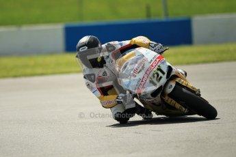© Octane Photographic Ltd. 2012 World Superbike Championship – European GP – Donington Park. Friday 11th May 2012. WSBK Free Practice. Maxime Berger - Ducati 1098R. Digital Ref : 0328cb1d2183