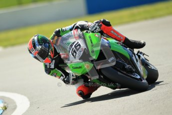 © Octane Photographic Ltd. 2012 World Superbike Championship – European GP – Donington Park. Friday 11th May 2012. WSBK Free Practice. Tom Sykes - Kawasaki ZX-10R. Digital Ref : 0328cb1d2374