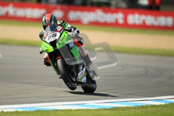 © Octane Photographic Ltd. 2012 World Superbike Championship – European GP – Donington Park. Friday 11th May 2012. WSBK Free Practice. Tom Sykes - Kawasaki ZX-10R. Digital Ref : 0328cb1d2775