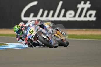 © Octane Photographic Ltd 2012. World Superbike Championship – European GP – Donington Park, Sunday 13th May 2012. Race 1. Chaz Davies. Digital Ref : 0335cb1d5173