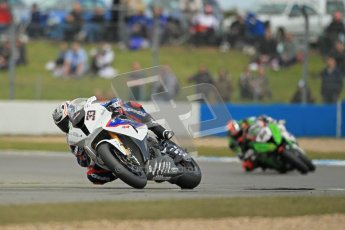 © Octane Photographic Ltd 2012. World Superbike Championship – European GP – Donington Park, Sunday 13th May 2012. Race 1. Marco Melandri leads after Leon Haslam falls back after a brief trip through the gravel). Digital Ref : 0335cb1d5383