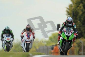 © Octane Photographic Ltd 2012. World Superbike Championship – European GP – Donington Park, Sunday 13th May 2012. Race 2. Loris Baz, Hiroshi Aoyama and Sylvain Guintoli. Digital Ref : 0337cb1d5668