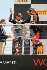 © Octane Photographic Ltd 2012. World Superbike Championship – European GP – Donington Park, Sunday 13th May 2012. Race 2. Max Biaggi on the podium. Digital Ref : 0337cb1d5935