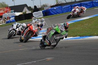© Octane Photographic Ltd 2012. World Superbike Championship – European GP – Donington Park, Sunday 13th May 2012. Race 2. Tom Sykes, Max Biaggi, Leon Haslam and Marc Melandri. Digital Ref : 0337lw7d7983