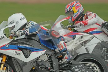 © Octane Photographic Ltd. World Superbike Championship – Silverstone, Race 2. Sunday 5th August 2012. Leon Haslam - BMW S1000RR - BMW Motorrad Motorsport and Jonathan Rea - Honda CBR1000RR - Honda World Superbike Team. Digital Ref :