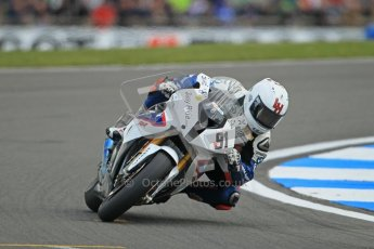 © Octane Photographic Ltd 2012. World Superbike Championship – European GP – Donington Park. Superpole session 1. 2nd Place - Leon Haslam - BMW S1000RR. Digital Ref : 0334cb1d4289