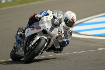 © Octane Photographic Ltd 2012. World Superbike Championship – European GP – Donington Park. Superpole session 1. 2nd Place - Leon Haslam - BMW S1000RR. Digital Ref :  0334cb1d4333