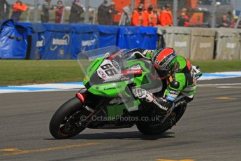 © Octane Photographic Ltd 2012. World Superbike Championship – European GP – Donington Park. Superpole session 2. Pole position - Tom Sykes - Kawasaki ZX-10R. Digital Ref :  0334lw7d6215