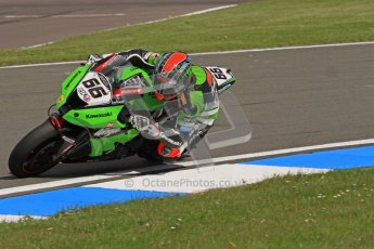 © Octane Photographic Ltd 2012. World Superbike Championship – European GP – Donington Park. Superpole session 3. Pole position - Tom Sykes - Kawasaki ZX-10R. Digital Ref :  0334lw7d6334