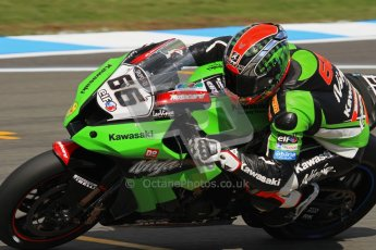 © Octane Photographic Ltd 2012. World Superbike Championship – European GP – Donington Park. Superpole session 3. Pole position - Tom Sykes - Kawasaki ZX-10R. Digital Ref :  0334lw7d6371