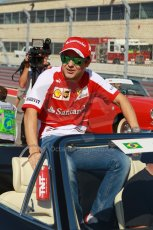 World © Octane Photographic Ltd. F1 USA GP, Austin, Texas, Circuit of the Americas (COTA), Sunday 17th November 2013 - Drivers' parade. Scuderia Ferrari F138 - Felipe Massa. Digital Ref : 0860lw1d2435