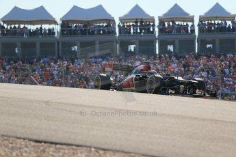 World © Octane Photographic Ltd. F1 USA GP, Austin, Texas, Circuit of the Americas (COTA), Sunday 17th November 2013 - Race. Lotus F1 Team E21 – Heikki Kovalainen. Digital Ref : 0861lw1d6010