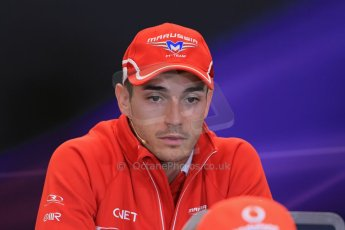 World © Octane Photographic Ltd. USA F1 Grand Prix, Austin, Texas, Circuit of the Americas (COTA). FIA Press Conference, Thursday 14th November 2013. Jules Bianchi - Marussia. Digital Ref : 0851lw1d2459