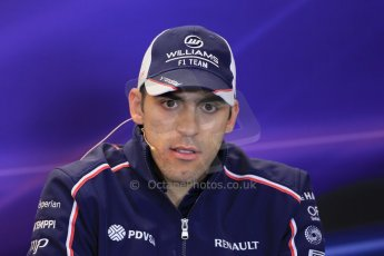 World © Octane Photographic Ltd. USA F1 Grand Prix, Austin, Texas, Circuit of the Americas (COTA). FIA Press Conference, Thursday 14th November 2013. Pastor Maldonado - Williams. Digital Ref : 0851lw1d2490