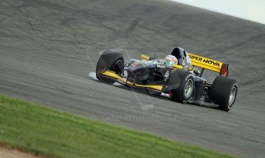 World © Octane Photographic Ltd./Carl Jones. Saturday August 31st 2013, AutoGP qualifying, Donington Park, Narain Karthikeyan, Super Nova. Digital Ref : 0803cj1d1217