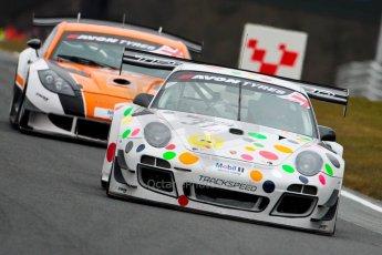 World © Octane Photographic Ltd. Avon Tyres British GT Championship. Monday 1st April 2013 Oulton Park – Race 1. Porsche 997 GT3-R – Trackspeed - Nick Tandy, David Ashburn. Digital Ref : 0623ce1d8839
