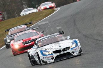 World © Octane Photographic Ltd. Avon Tyres British GT Championship. Monday 1st April 2013 Oulton Park – Race 2. BMW Z4 GT3 – Ecurie Ecosse with Barwell Motorsport – Oliver Bryant, Marco Attard. Digital Ref : 0625ce1d9560
