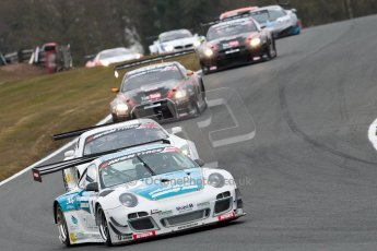 World © Octane Photographic Ltd. Avon Tyres British GT Championship. Monday 1st April 2013 Oulton Park – Race 2. Porsche 997 GT3-R – Oman Air Motorbase – Michael Caine, Ahmad Al Harthy. Digital Ref : 0625ce1d9575