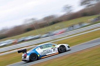 World © Octane Photographic Ltd. Avon Tyres British GT Championship. Monday 1st April 2013 Oulton Park – Race 2. Audi R8 LMS – PE Group Blendini Motorsport – Dominic Evans, Tom Roche. Digital Ref : 0625ce1d9801