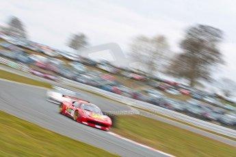 World © Octane Photographic Ltd. Avon Tyres British GT Championship. Monday 1st April 2013 Oulton Park – Race 2. Ferrari 458 Italia – Rosso Verde – Hector Lester, Allan Simonsen. Digital Ref : 0625ce1d9812