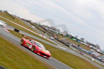 World © Octane Photographic Ltd. Avon Tyres British GT Championship. Monday 1st April 2013 Oulton Park – Race 2. Ferrari 458 Italia – Rosso Verde – Hector Lester, Allan Simonsen. Digital Ref : 0625ce1d9892
