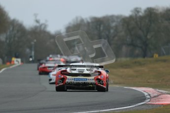 World © Octane Photographic Ltd. Avon Tyres British GT Championship. Monday 1st April 2013 Oulton Park – Race 2. Audi R8 LMS Ultra – United Autosports – Zak Brown, Matt Bell, Mark Patterson. Digtal Ref : 0625lw1d0025