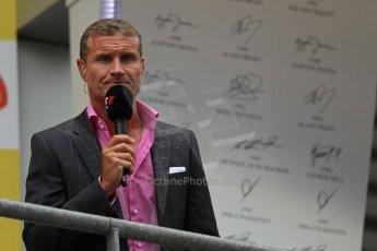 World © Octane Photographic Ltd. F1 Belgian GP - Spa-Francorchamps, Sunday 25th August 2013 - Podium. DAvid Coulthard. Digital Ref : 0798lw1d0870