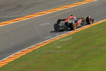 World © Octane Photographic Ltd. F1 Belgian GP - Spa - Francorchamps. Friday 23rd August 2013. Practice 2. Lotus F1 Team E21 - Romain Grosjean. Digital Ref : 0787lw1d7719