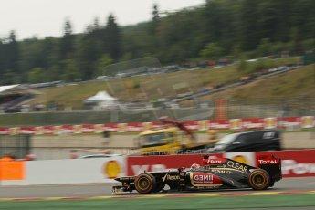 World © Octane Photographic Ltd. F1 Belgian GP - Spa-Francorchamps, Saturday 24th August 2013 - Practice 3. Lotus F1 Team E21 - Kimi Raikkonen. Digital Ref : 0792lw1d5276