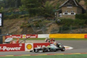 World © Octane Photographic Ltd. F1 Belgian GP - Spa-Francorchamps, Saturday 24th August 2013 - Practice 3. Mercedes AMG Petronas F1 W04 - Nico Rosberg. Digital Ref : 0792lw1d5278