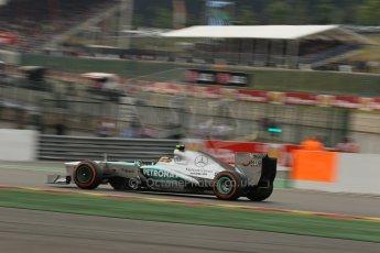 World © Octane Photographic Ltd. F1 Belgian GP - Spa-Francorchamps, Saturday 24th August 2013 - Practice 3. Mercedes AMG Petronas F1 W04 – Lewis Hamilton. Digital Ref : 0792lw1d5334