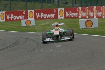 World © Octane Photographic Ltd. F1 Belgian GP - Spa-Francorchamps, Saturday 24th August 2013 - Practice 3. Sahara Force India VJM06 - Adrian Sutil. Digital Ref : 0792lw1d8796