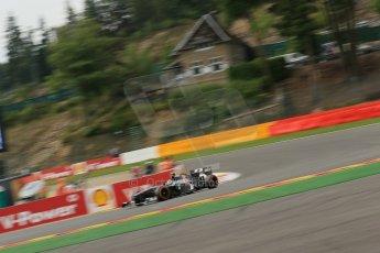 World © Octane Photographic Ltd. F1 Belgian GP - Spa-Francorchamps, Saturday 24th August 2013 - Practice 3. Sauber C32 - Esteban Gutierrez. Digital Ref : 0792lw1d9023